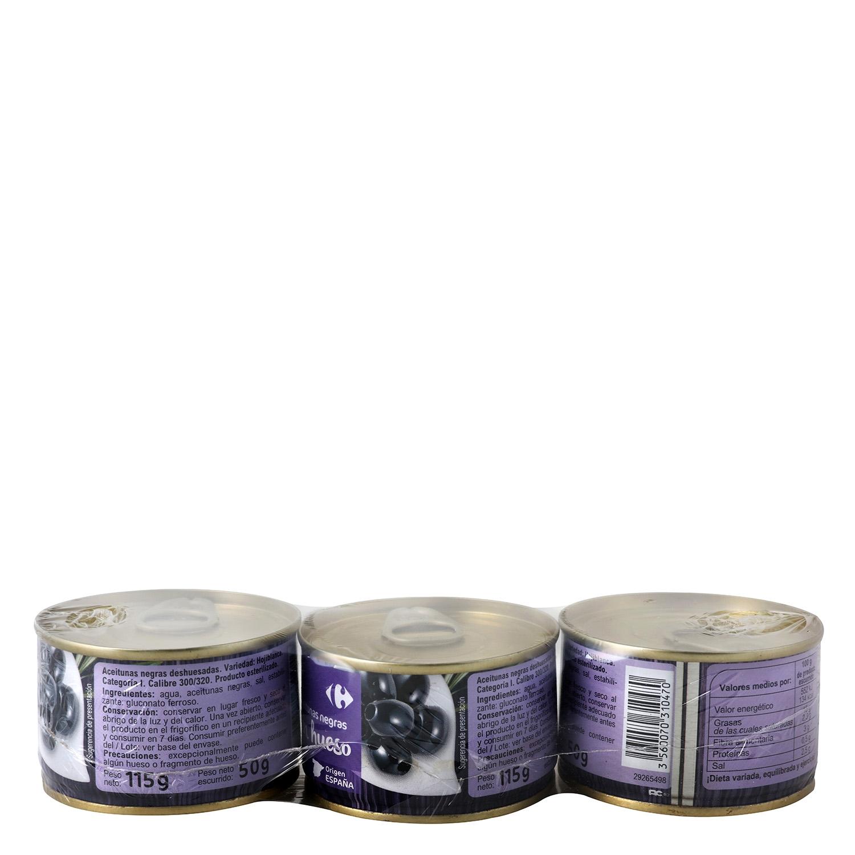 Aceituna Negra deshuesada Pack 3 minibar