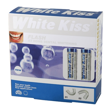 Kit blanqueador flash White Kiss 12 ml.