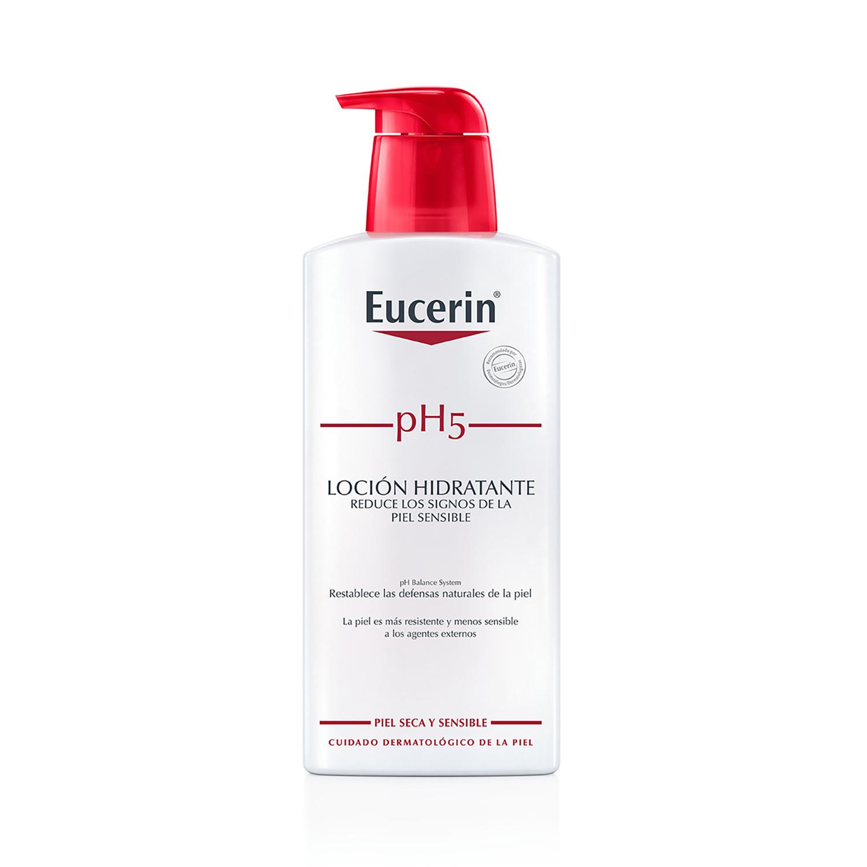 Loción hidratante corporal pH5 para pieles sensibles Eucerin 400 ml.