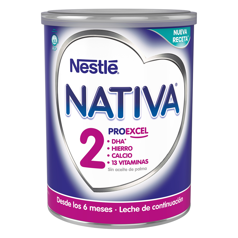Leche infantil de continuación desde 6 meses en polvo Nestlé Nativa Proexcel lata 800 g.