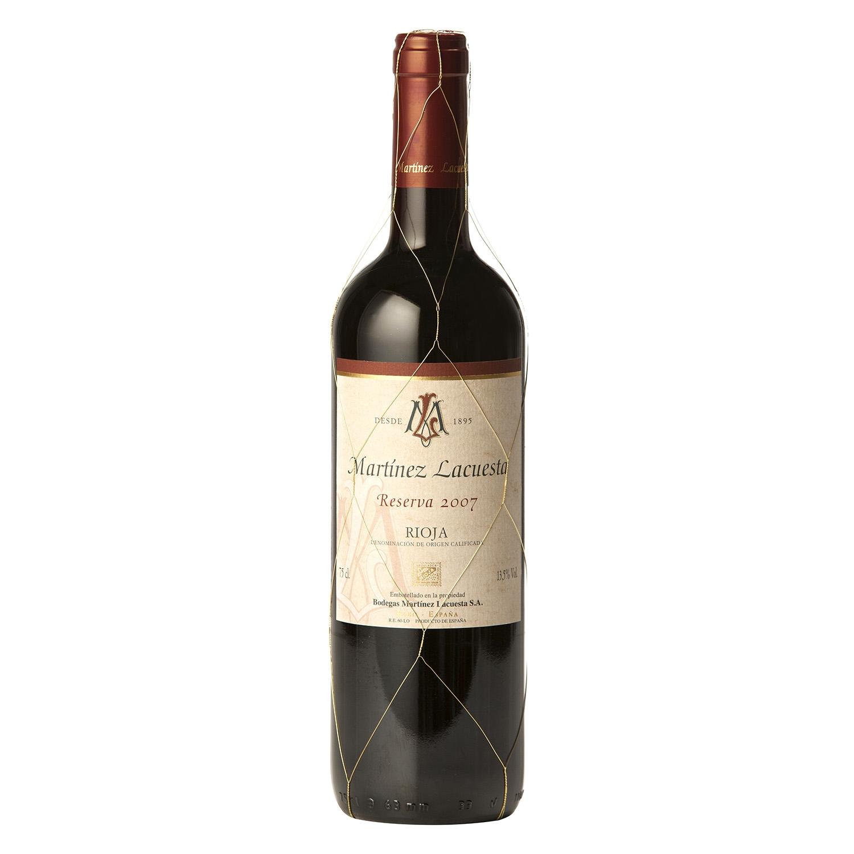 Vino D.O. Rioja tinto reserva Martínez Lacuesta 75 cl.