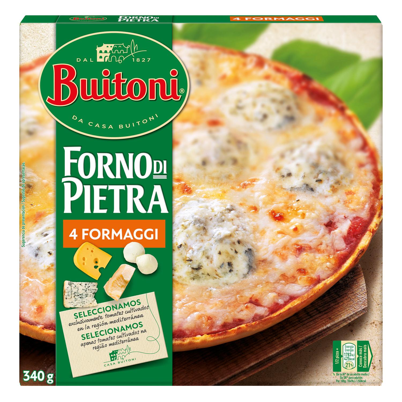 Pizza Forno Di Pietra 4 quesos Buitoni - Carrefour supermercado ...