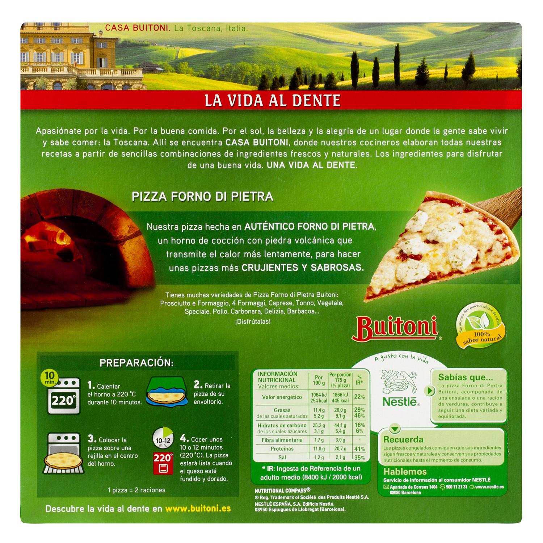 Pizza Forno Di Pietra 4 quesos Buitoni 350 g. -