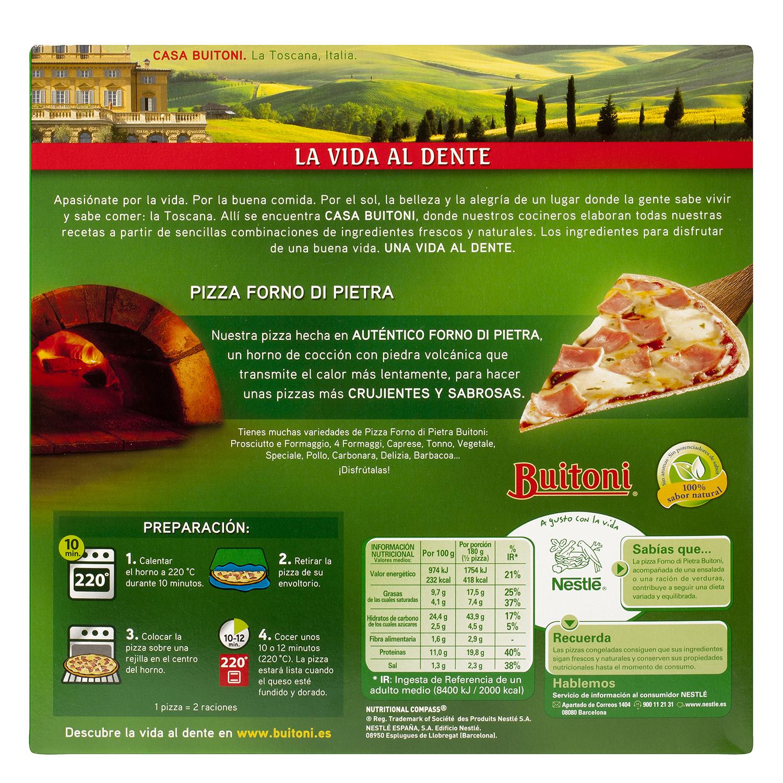 Pizza Forno Di Pietra Jamón y Queso -