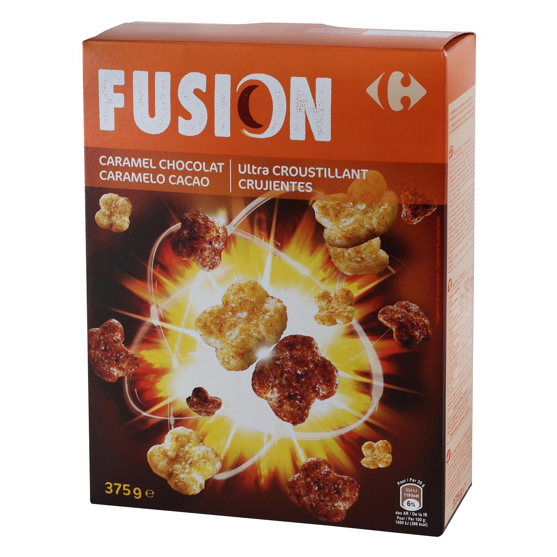 Cereales fusión con caramelo y chocolate