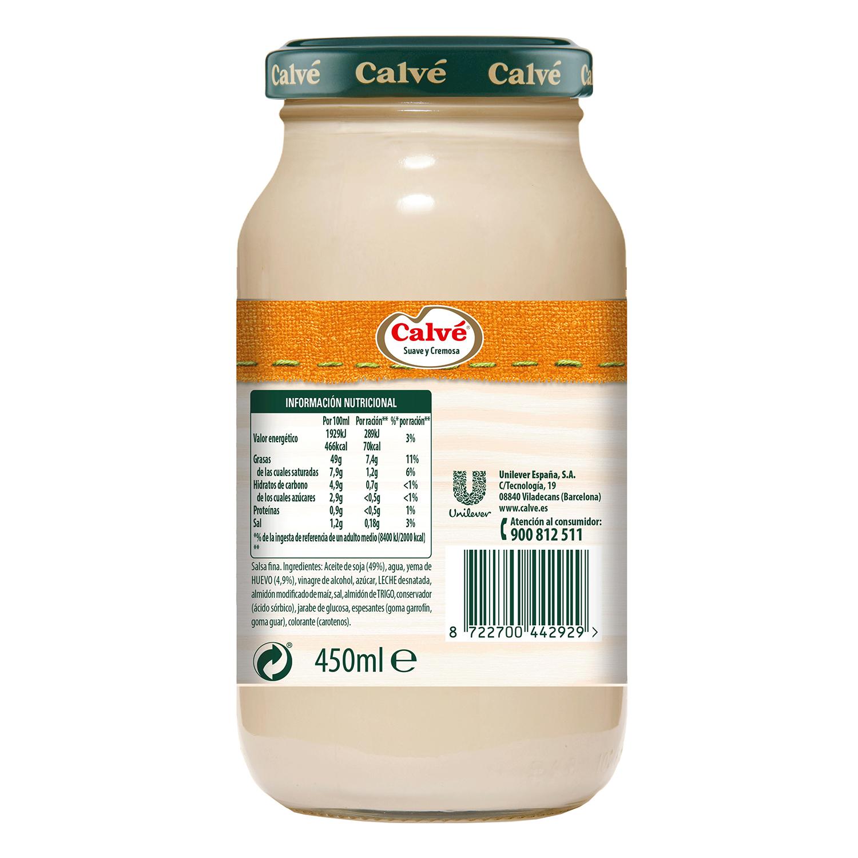 Mayonesa especial ensaladilla rusa Calvé tarro 450 ml. -