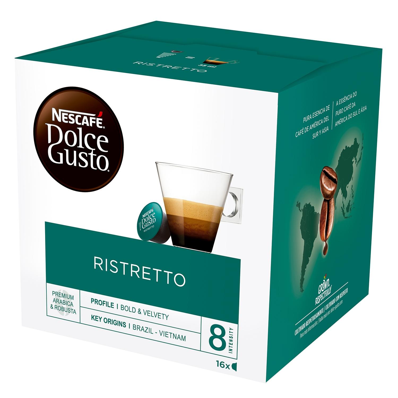 Café ristretto en cápsulas Nescafé Dolce Gusto 16 unidades de 6,5 g.