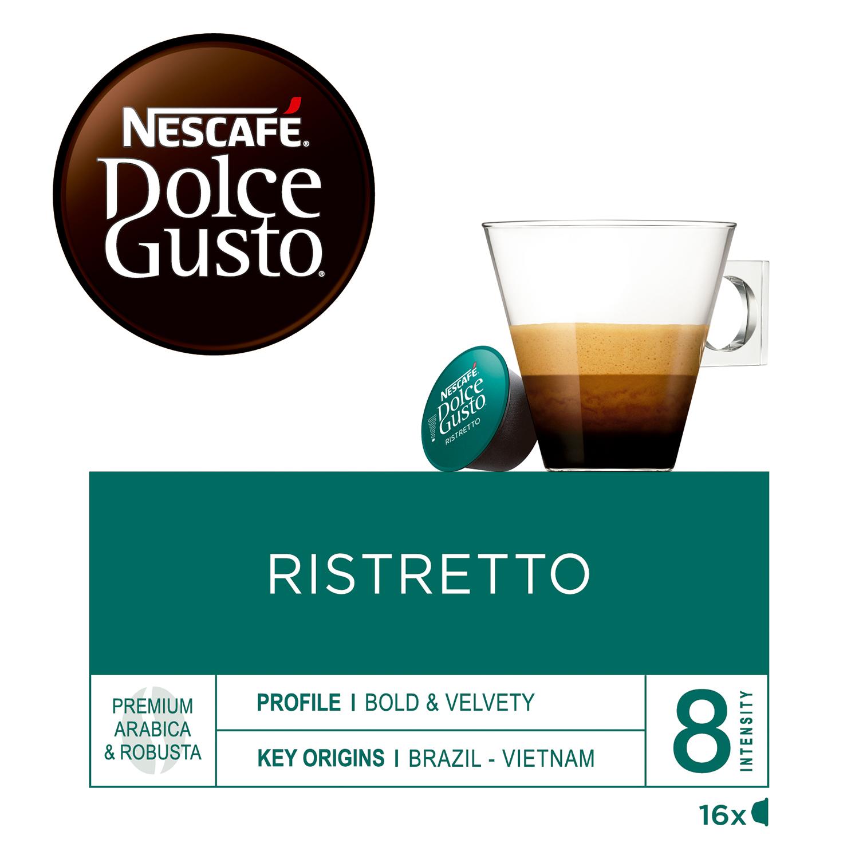 Café ristretto en cápsulas Nescafé Dolce Gusto 16 unidades de 6,5 g. -