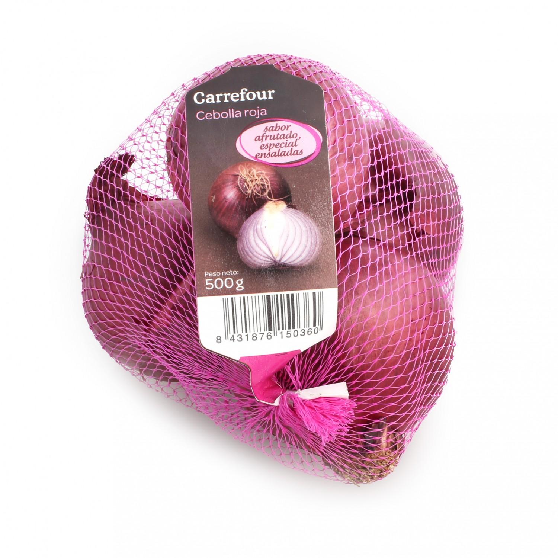 Cebolla roja Carrefour malla 500 g - 2
