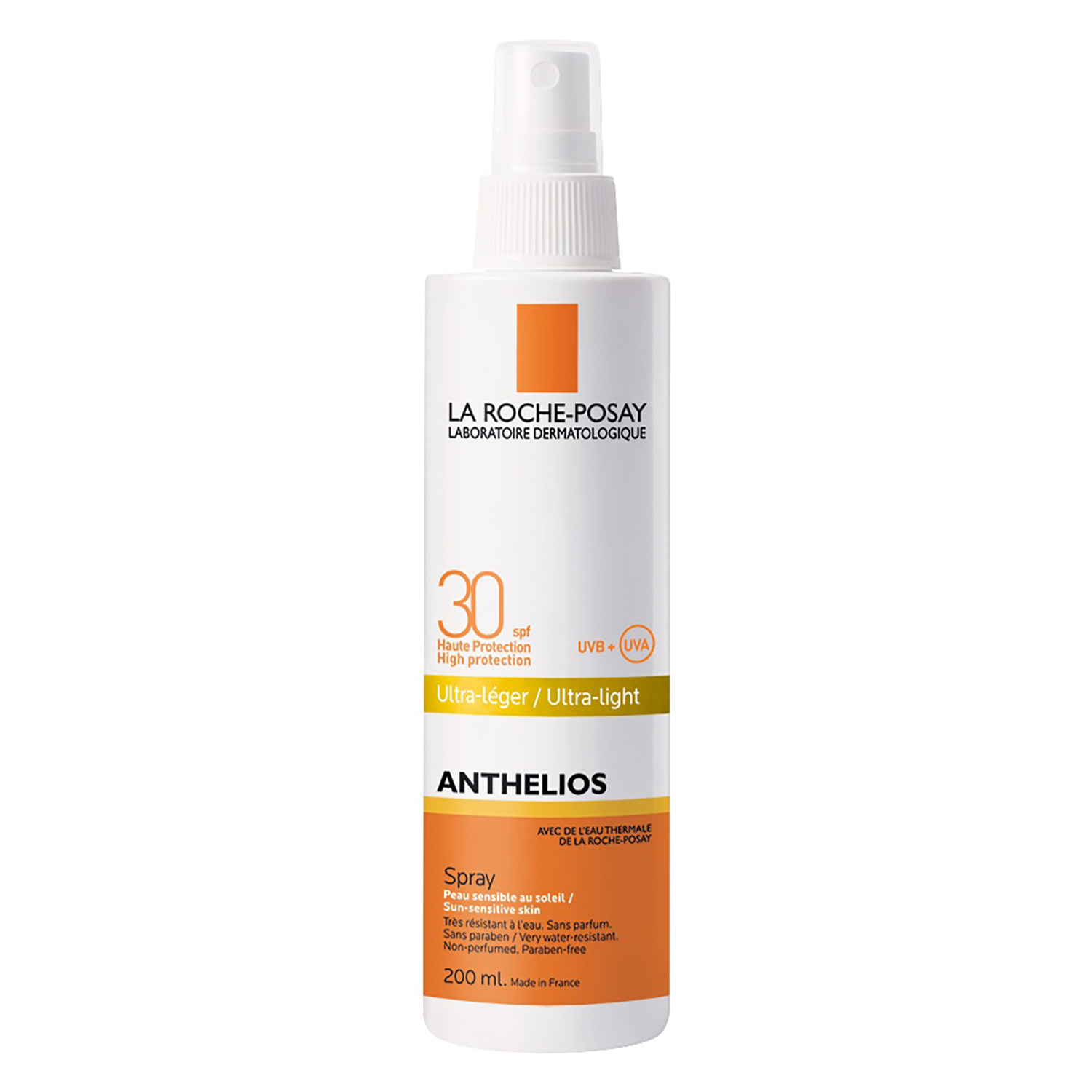 Spray solar SPF30 Anthelios La Roche-Posay 200 ml.