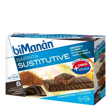 Barritas sustitutive chocolate negro fondant