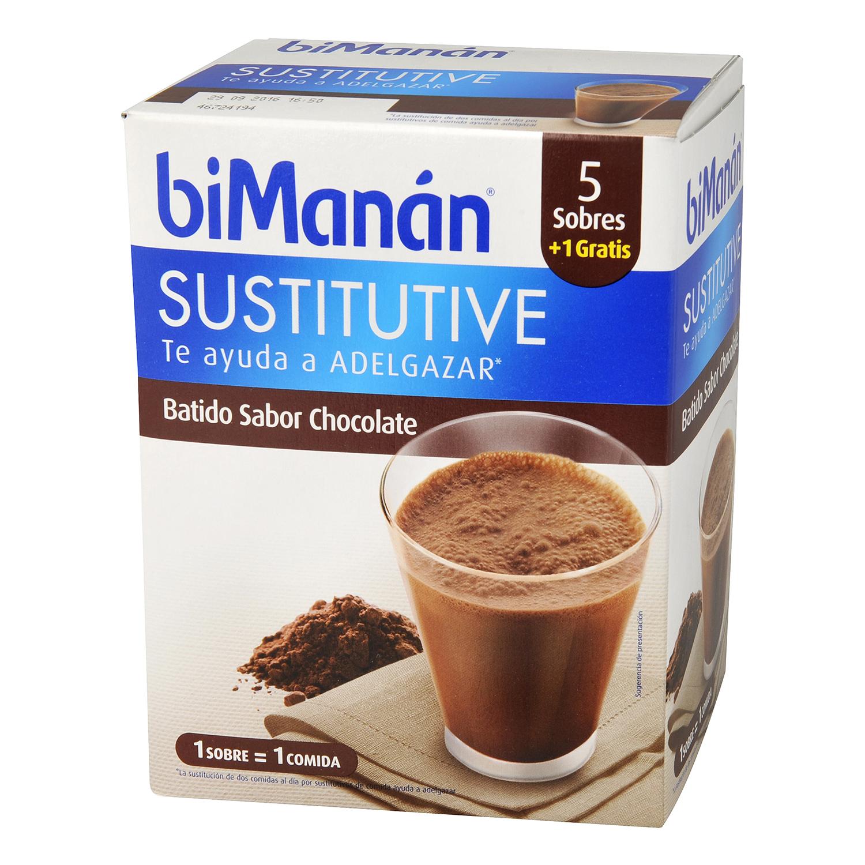 Batido sabor chocolate en sobres Bimanán 5 ud.