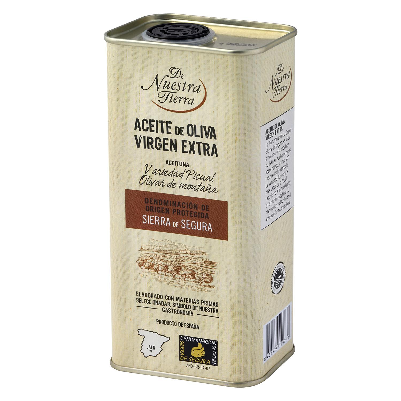 Aceite de oliva virgen extra De Nuestra Tierra D.O Sierra de Segura 50 cl.