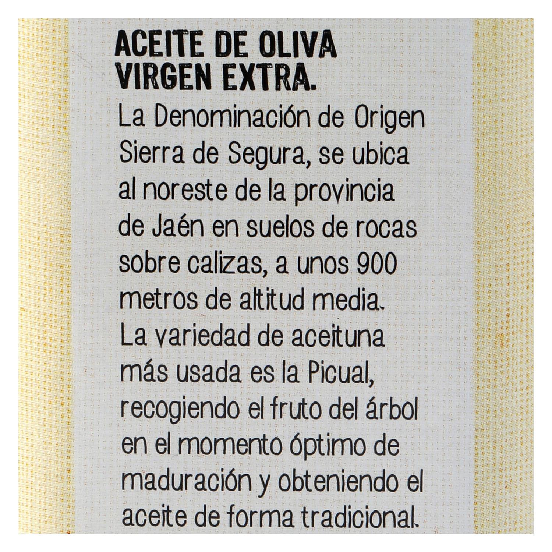Aceite de oliva virgen extra De Nuestra Tierra D.O Sierra de Segura 50 cl. - 2
