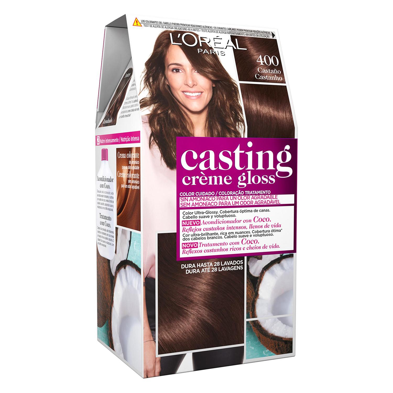 Tinte Créme Gloss nº 400 Castaño L'Oréal Casting 1 ud.