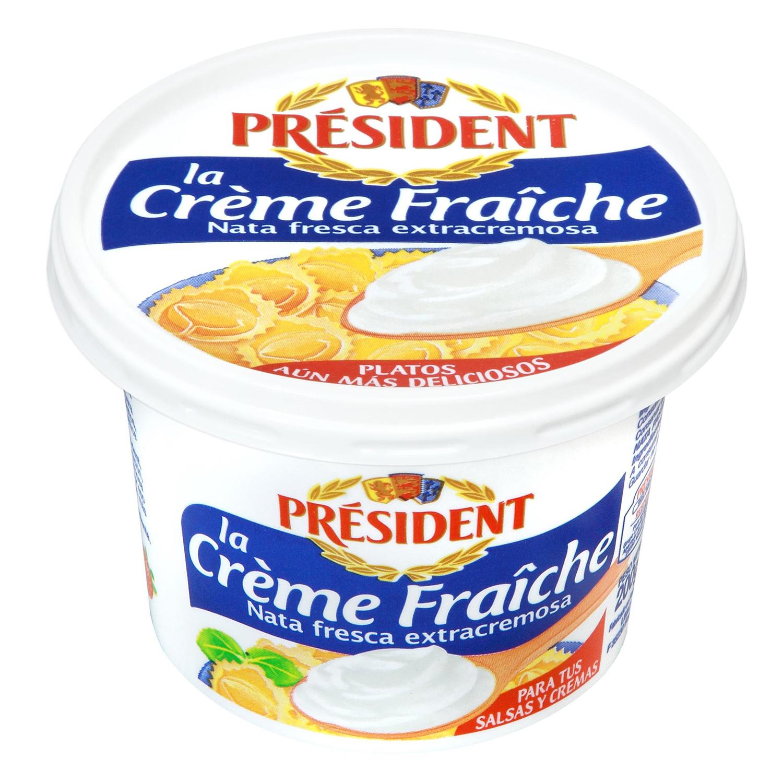 Nata para cocinar fresca Président 200 ml.