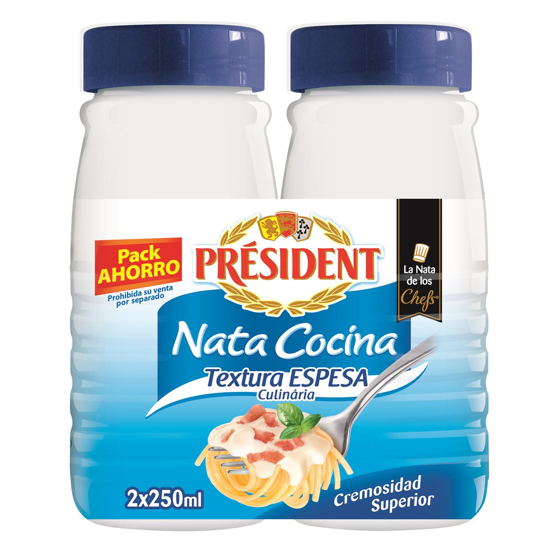 Nata para cocinar Président espesa pack de 2 ud. de 250 ml.