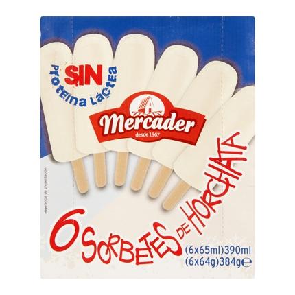 Helado de horchata Mercader sin proteína láctea 6 ud.