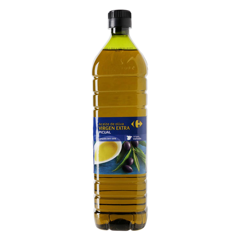 Aceite de oliva virgen extra picual Carrefour 1 l.