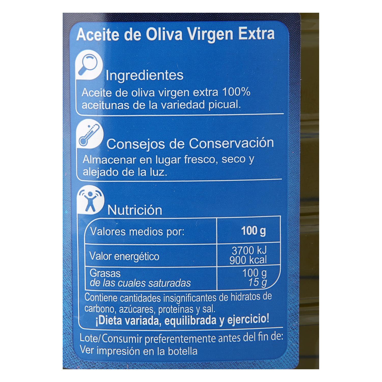 Aceite de oliva virgen extra picual Carrefour 1 l. - 3