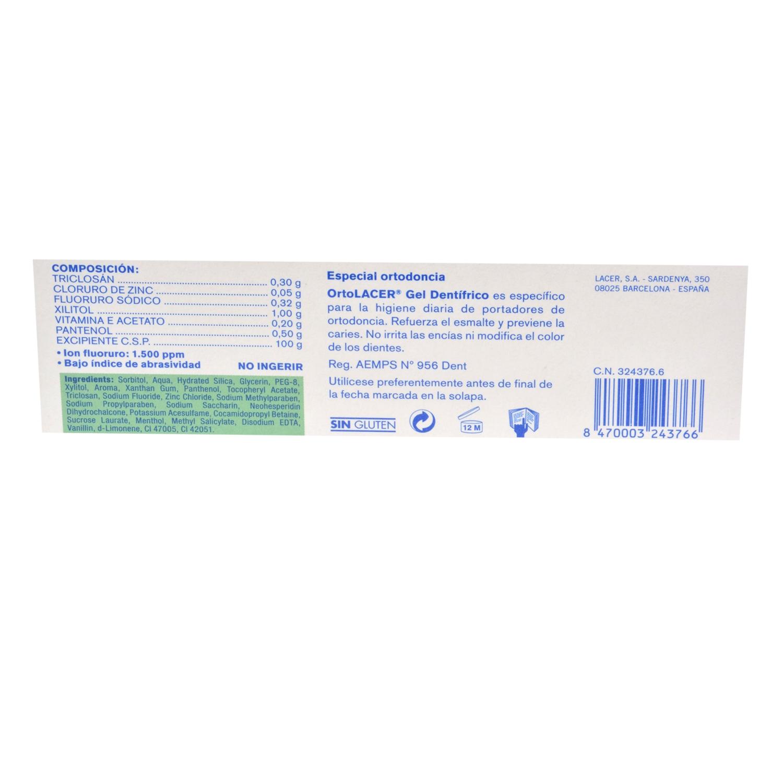 Gel dentífrico sabor menta especial ortodoncia - 2