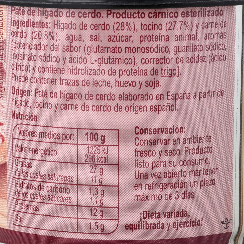 Paté de hígado de cerdo Carrefour 200 g. -