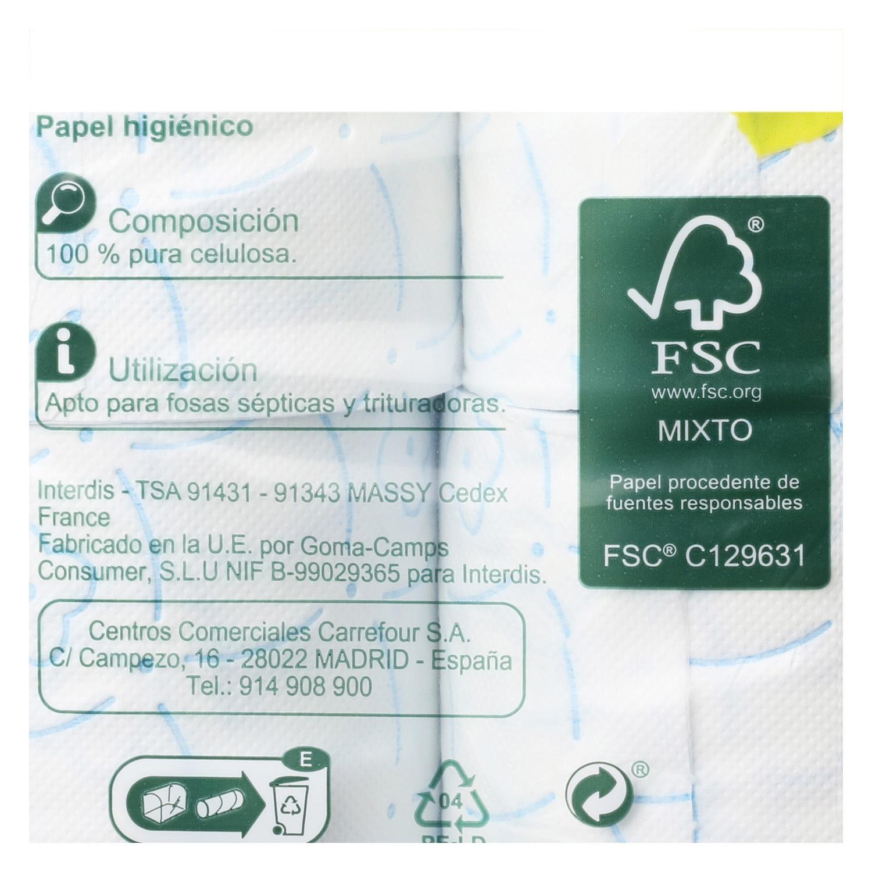 Papel higiénico 3 capas Carrefour 32 rollos. -