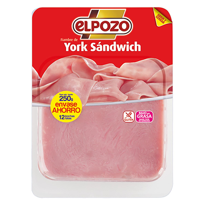 York sándwich El Pozo sin gluten 250 g.
