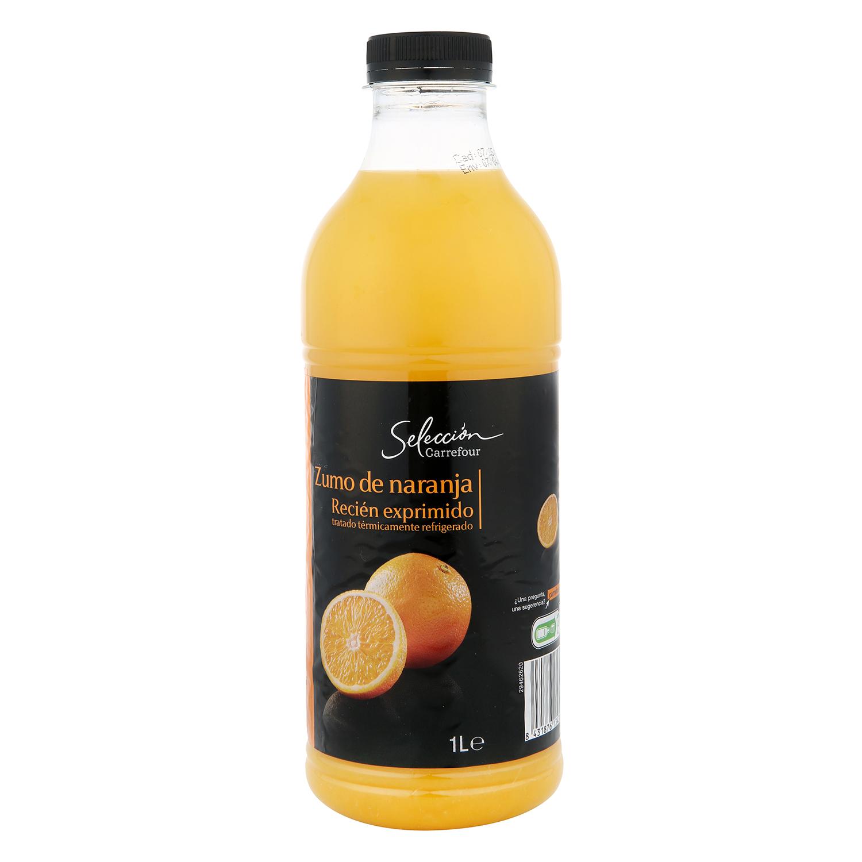 Zumo de naranja Carrefour Selección exprimido botella 1 l.