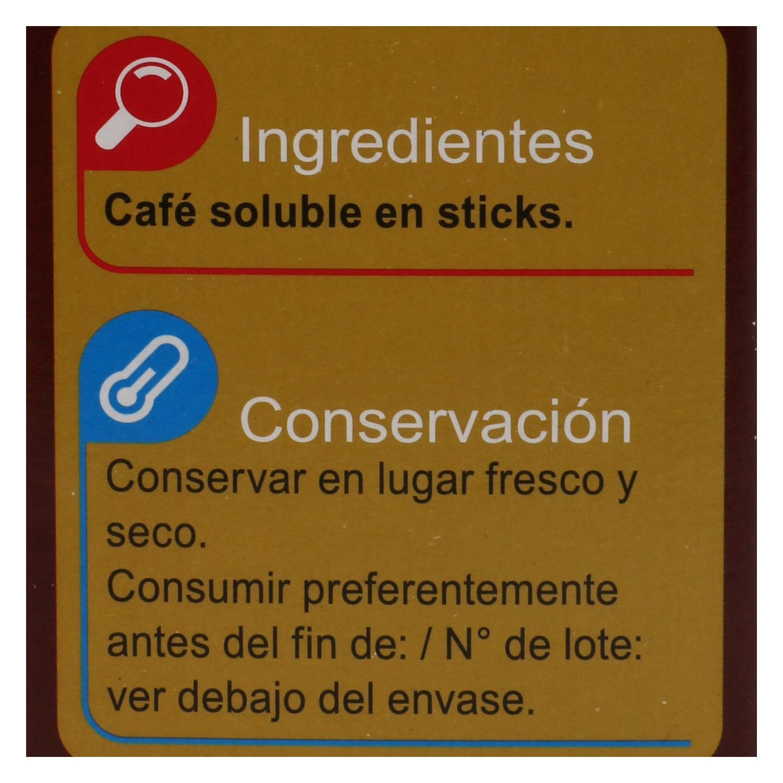 Café soluble classic en sobres Carrefour 25 unidades de 2 g. - 2
