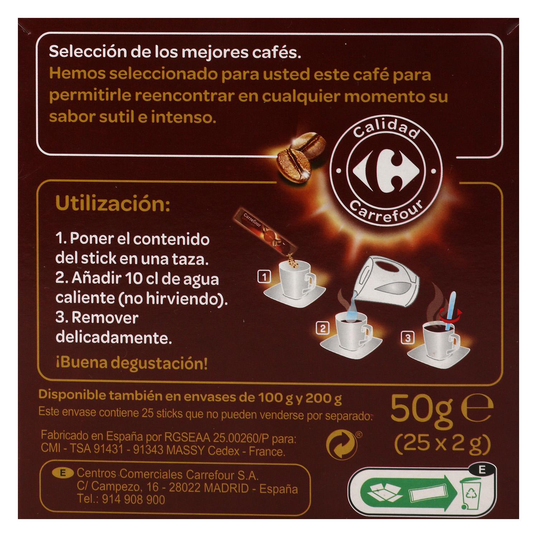 Café soluble classic en sobres Carrefour 25 unidades de 2 g. - 3