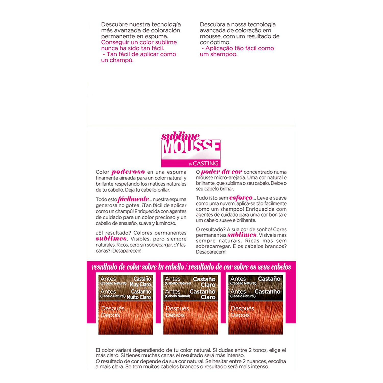 Tinte nº 740 Cobrizo Ardiente L'Oréal Sublime Mousse 1 ud. - 2