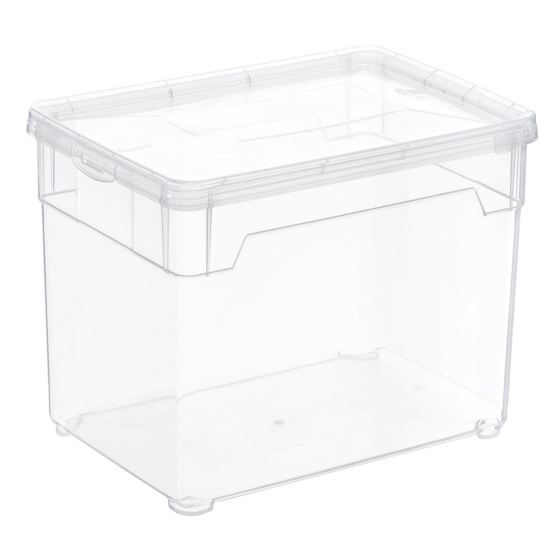Caja con tapa de Plástico Basic 5 Litros Transparente