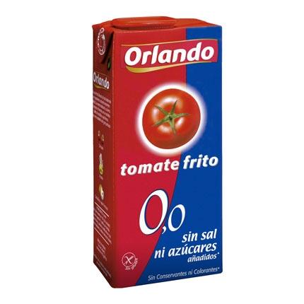 Tomate frito 0,0 abrefacil Orlando sin gluten 350 g.