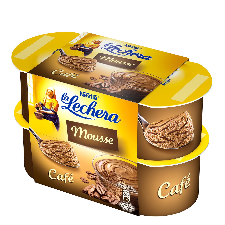 Mousse de café Nestlé La Lechera pack de 4 nidades de 100 g.