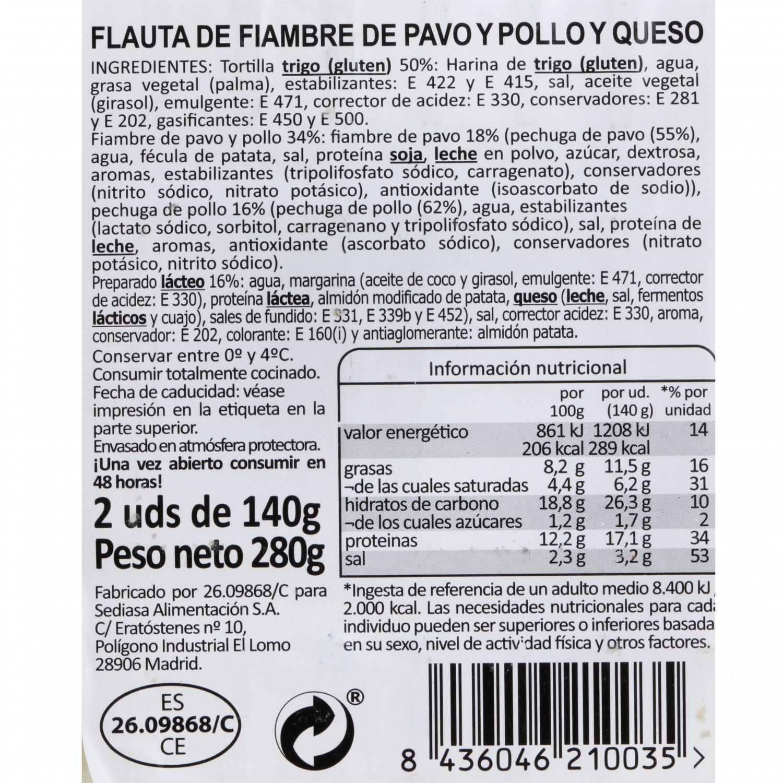 Flautas de pollo y queso Carrefour 280 g - 3