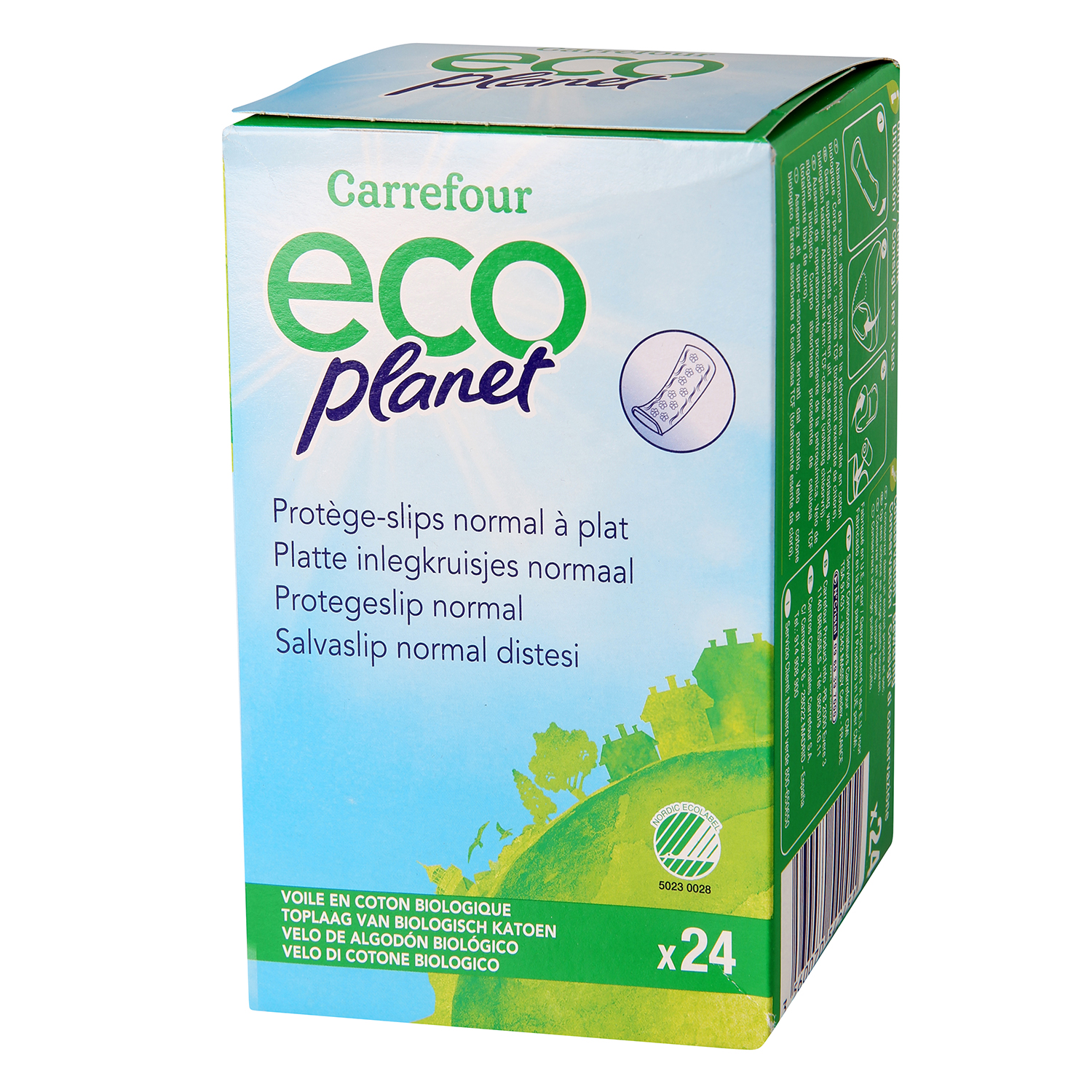Protegeslip normal ecológico Carrefour Eco Planet 24 ud.