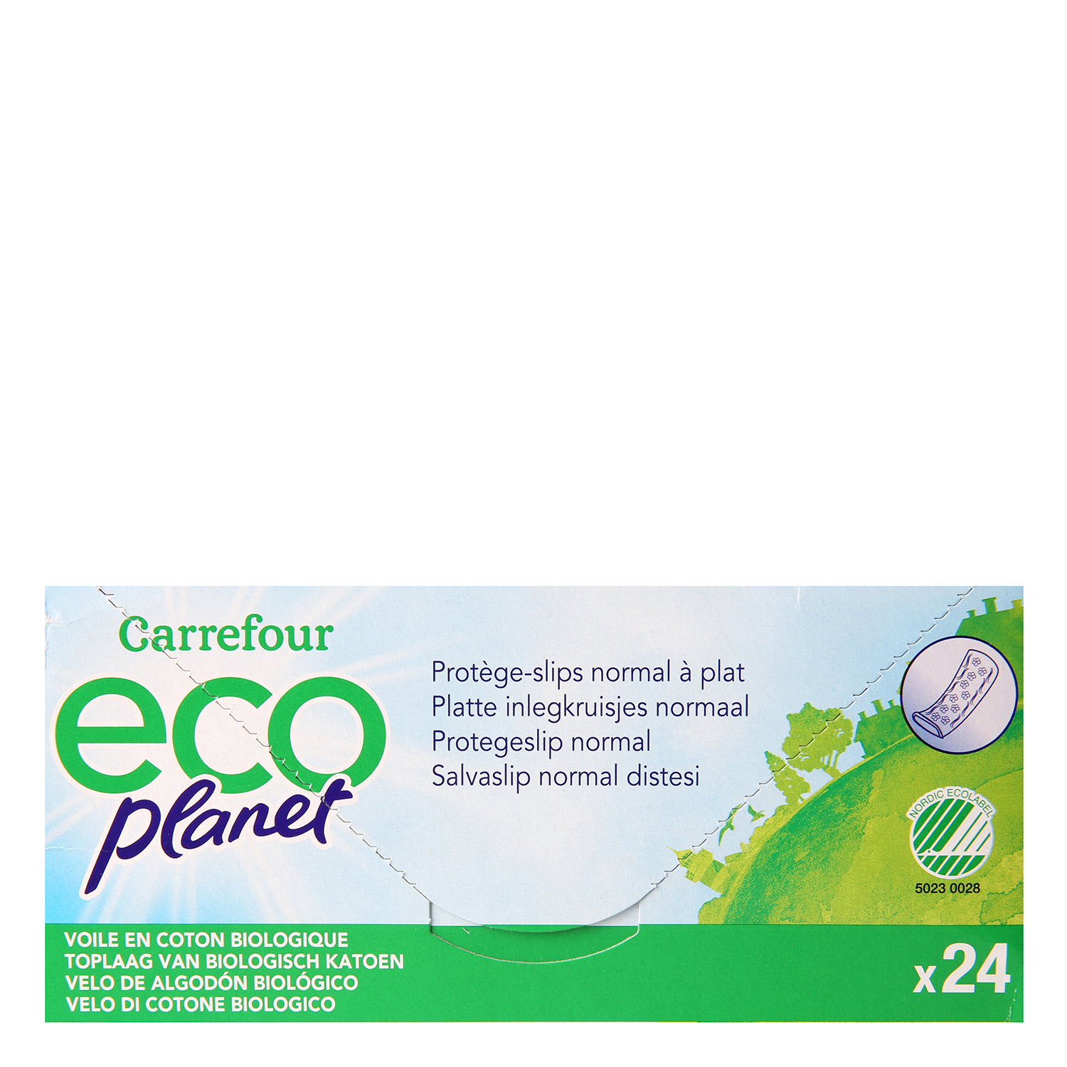 Protegeslip normal ecológico Carrefour Eco Planet 24 ud. - 2