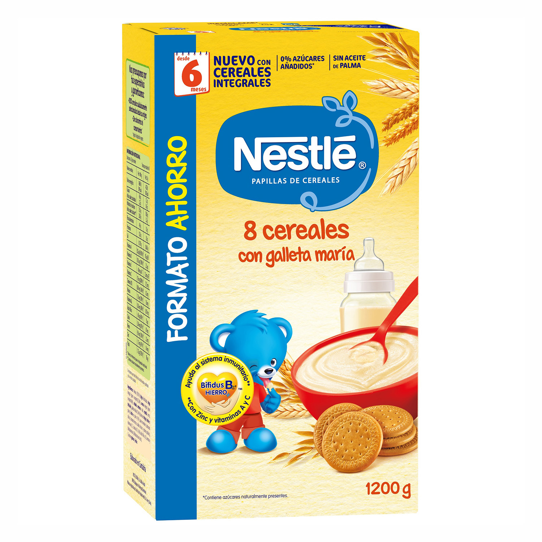 Papilla de 8 cereales con galleta María Nestlé 1200 g.