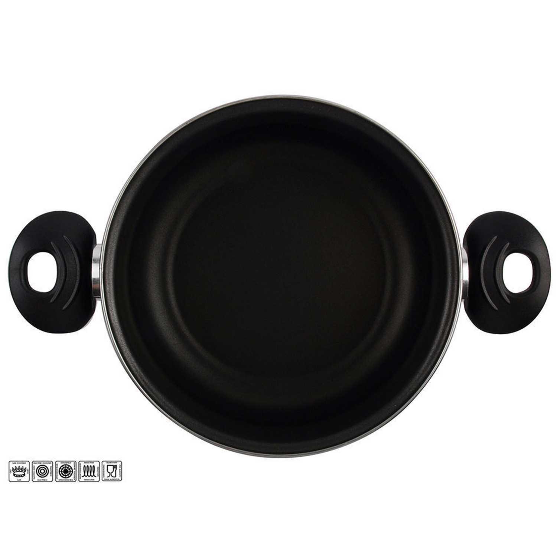 Cacerola Clásica de Acero Esmaltado Zen Noir 24cm  Negro -