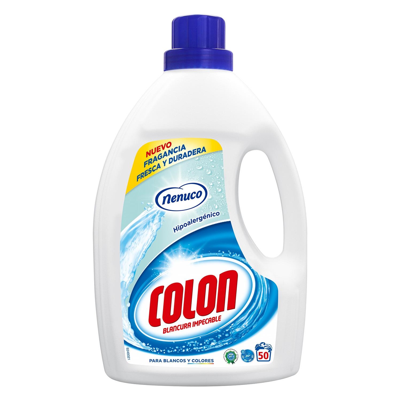 Detergente líquido Nenuco Colon 50 lavados.