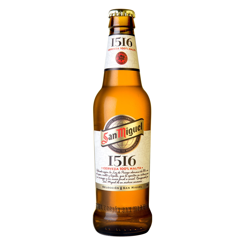 Cerveza San Miguel premium 1516 botella 33 cl.