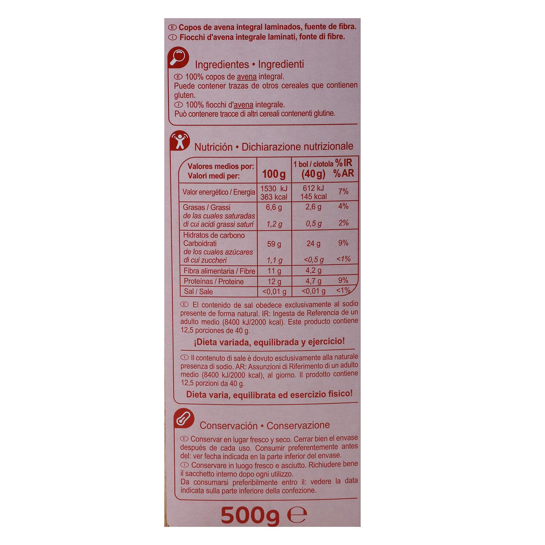 Copos de avena Carrefour 500 g. - 2