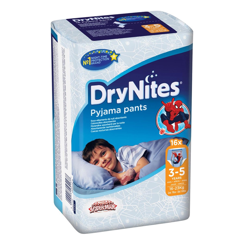 Calzoncillos absorbentes niño 3-5 años (16-23 kg.) DryNites 16 ud.