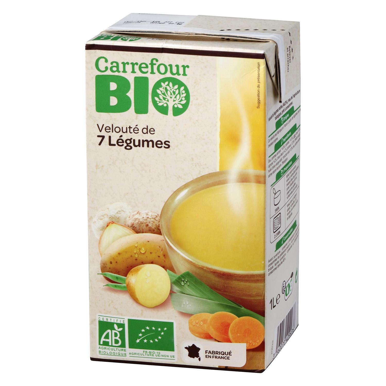 Crema 7 Verduras ecológico Carrefour Bio 1l.