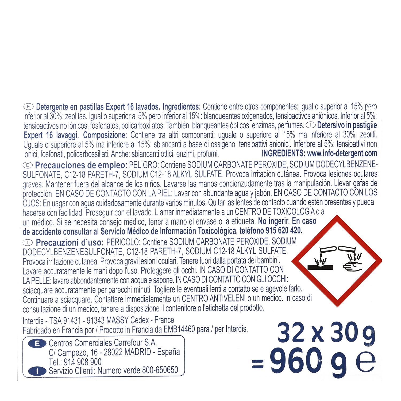 Detergente lavadora pastilla -