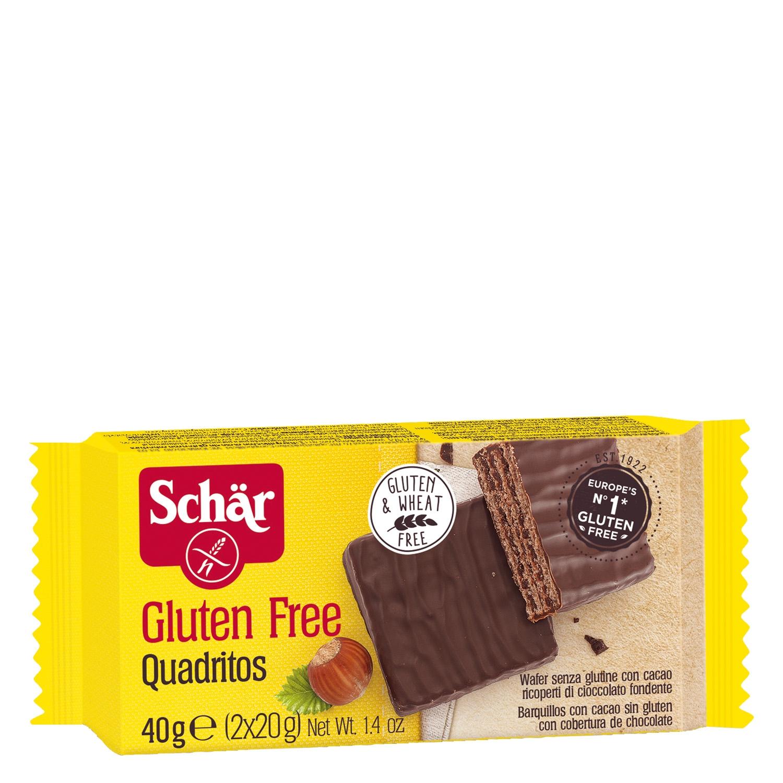 Quadritos Schär sin gluten 40 g.