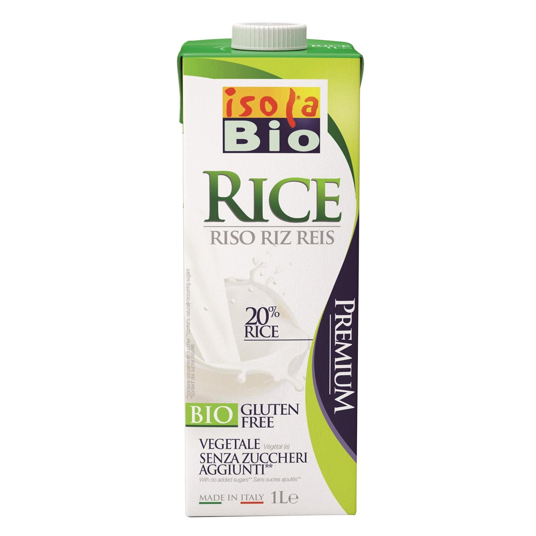 Bebida de arroz ecológica Isola sin gluten brik 1 l.