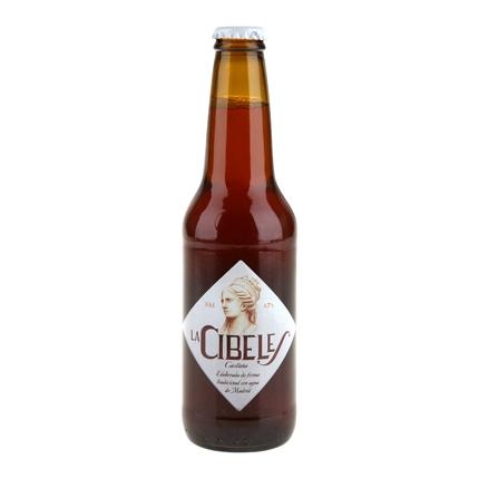 Cerveza artesana La Cibeles castaña botella 33 cl.