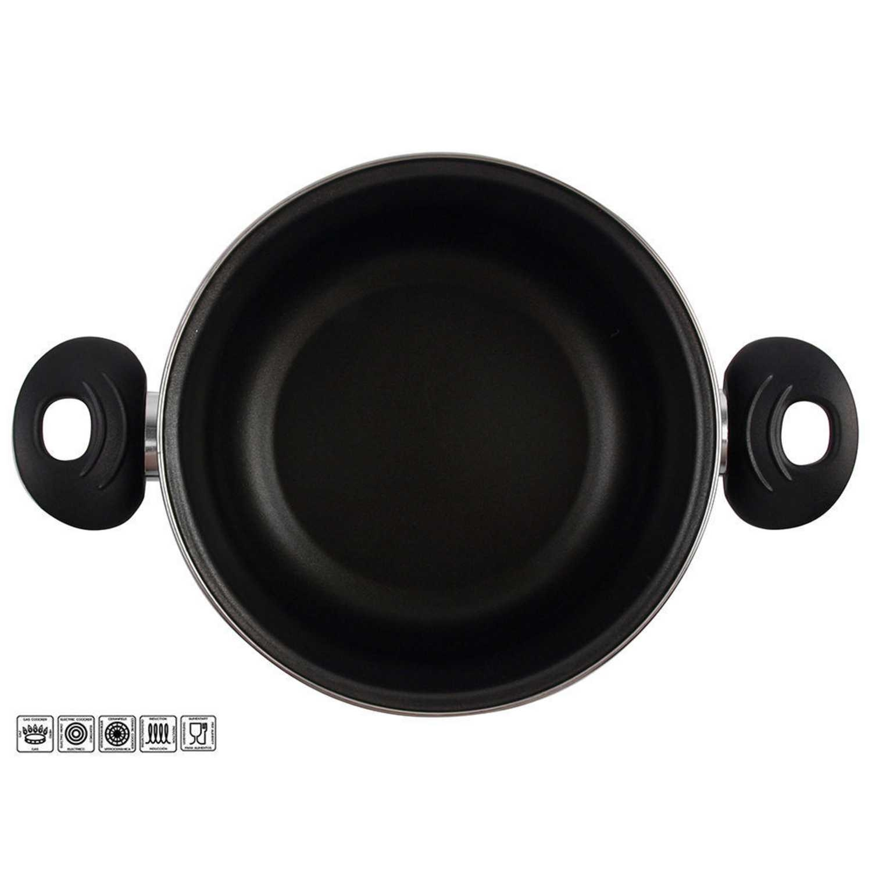 Olla Clásica de Acero Esmaltado Zen Noir 20cm  Negro -